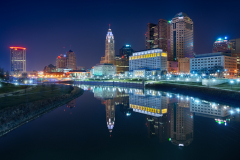 The reflection in Columbus, Ohio, USA