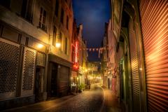 Little alley in Bruxelles, Belgium