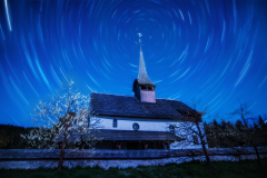 Star Trail in the Emmenthal, Switzerland